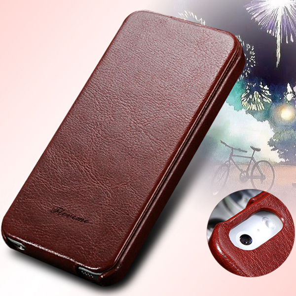 4s Flip Phone Case Premium PU Leather Cover For iPhone 4 4s 4g Full Protect Skin With Magnetic Buckle Fashion Mobile Phone Case(China (Mainland))