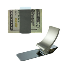 Wallet Slim Sided Stainless Steel Money Clip Card Credit Name Holder ETS88(China (Mainland))
