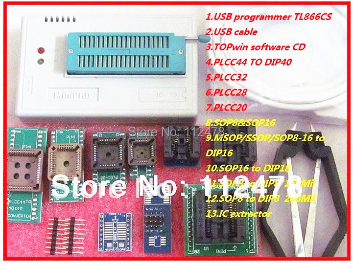 Гаджет  Free Shipping MiniPro TL866CS USB Universal Programmer/Bios Programmer support 13071 chips +9 adapters  2012 NEW UPDATE V5.80 None Электронные компоненты и материалы