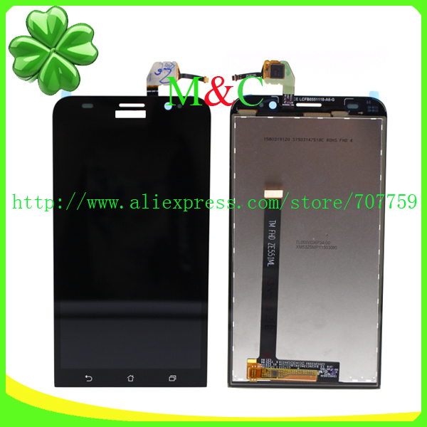 Original LCD Display for Asus Zenfone 2 ZE551ML 5.5 inch With Touch Screen Digitizer Assembly Free Shipping+Tracking Code