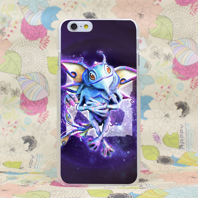 834HJ Puck Dota 2 Hard Transparent Case Cover for iPhone 4 4s 5 5s SE 5C 6 6s Plus(China (Mainland))