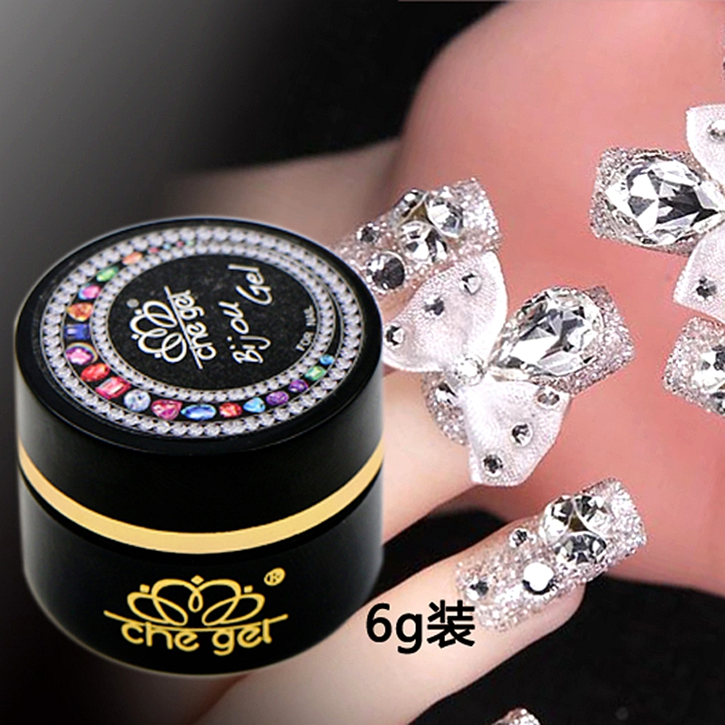 6G Che gel nail art rhinestone gel glue use for nail tips decoration jewelry and garment