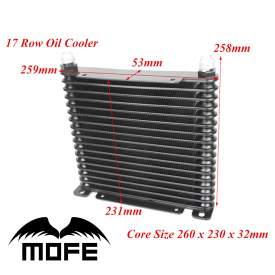 SPECIAL OFFER AN10 13 Row Engine Oil Cooler With Oil Sandwich Adapter Braided Nylon Stainless Steel