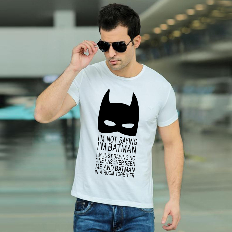 I'm Not Saying I'm Batman T Shirts Fashion Personalized Custom Tshirts Men Funny Movie Print T-shirts Plus Size Tees(China (Mainland))