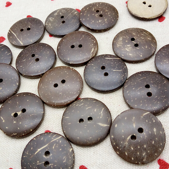 20Pcs 30mm Natural coconut wood buttons 2 holes overcoat apparel supplies sewing accessories A260(China (Mainland))