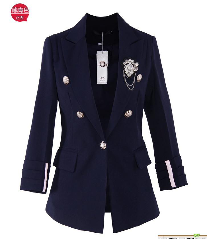 achetez en gros blazer bleu marine femmes en ligne des grossistes blazer bleu marine femmes. Black Bedroom Furniture Sets. Home Design Ideas