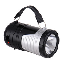 camping light 6 LEDs Rechargeable Hand Lamp Collapsible Solar Camping Lantern Tent Lights for Outdoor Lighting Hiking Camping(China (Mainland))