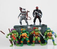 Teenage Mutant Ninja Turtles Action Figures 2015 Cartoon Figure 6pcs/set Superman Hot Toys Kid Gift Robot Toys Collection Models