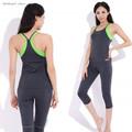 2016 Top Quality Pilates Yoga Suits Top Pants Sets Women s Jumpsuit Bodysuit Solid Nylon Gym