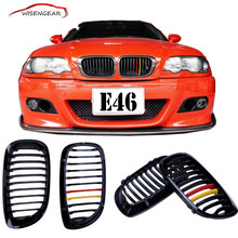 Buy NEW Color 1Pair Kidney Front Grille Grills BMW E46 2D 2004 2005 2006 Gloss Black Germany Color C/5 for $50.96 in AliExpress store