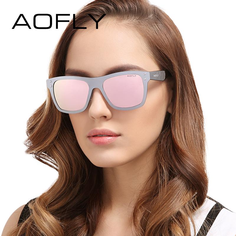 AOFLY Original Design Women Sunglasses UV400 Mirrored Lenses Frame Sun Glasses Brand Eyewear Fashion Decoration With Case AF6024(China (Mainland))