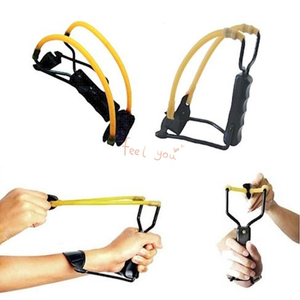 Folding Wrist-lock Sling Shot Slingshot High Velocity Brace Hunting Catapult Outdoor(China (Mainland))