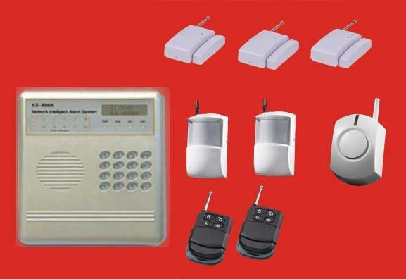 Complete Alarm Systems | With 5 wireless sensors and siren | 8 wireless, 4 wired zones home security | burglar & fire alarms