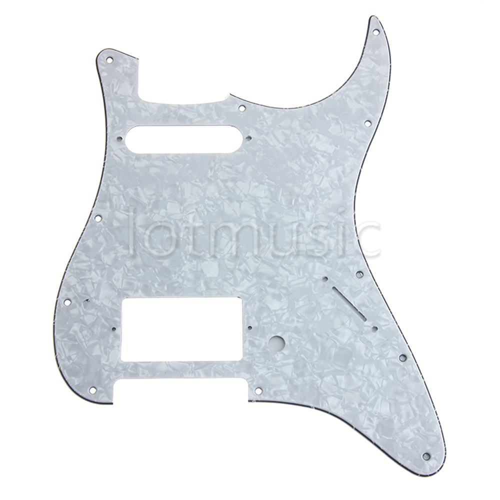 Electric Guitar Pickguard HS (Humbucker-Single) 3 Ply Pick Guard for Stratocaster Replacement White Pearl(China (Mainland))