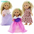 Cute Pink Outfit Mini Summer season Gown Trend Flower Journey Gown For Barbie Sister Kelly Child Dimension Doll Garments Equipment Items