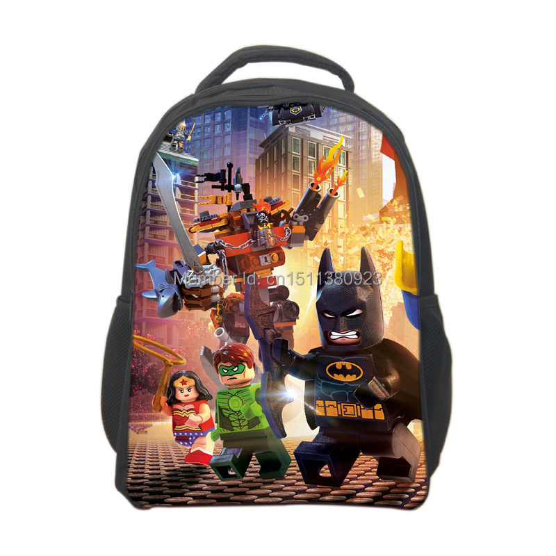 Shipping Lego Movie Backpack For Boys School Bags Kids Cartoon
