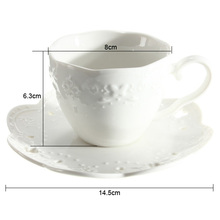 2015 Hot Sale New Arrival Japanese Ceramic Coffee Cup Coaster And Saucer Suit Butterfly Relief Coffee