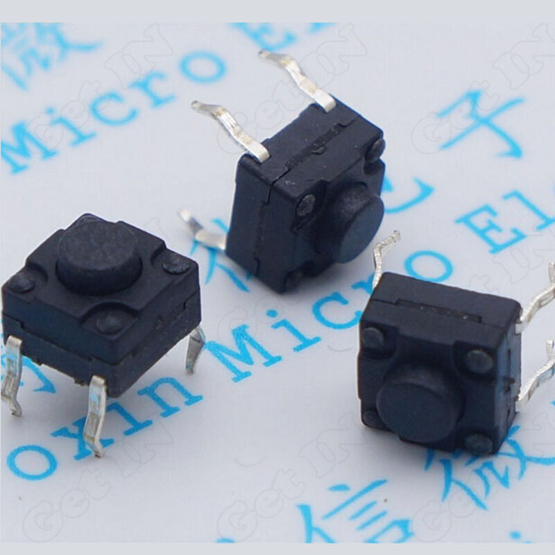 1000pcs 6*6*5mm Waterproof DIP Micro Switches Tactile Tact Dustproof Switches Button<br><br>Aliexpress
