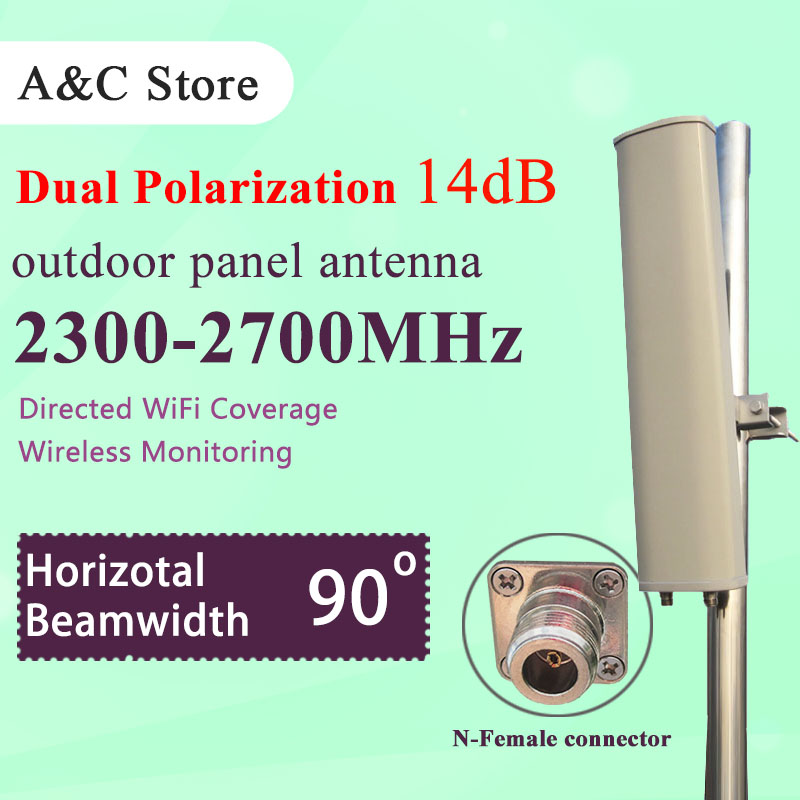 2.4G 14dBi wifi antenna dual polarization 90 degree outdoor panel antenna for ap sector high gain N-female connector(China (Mainland))