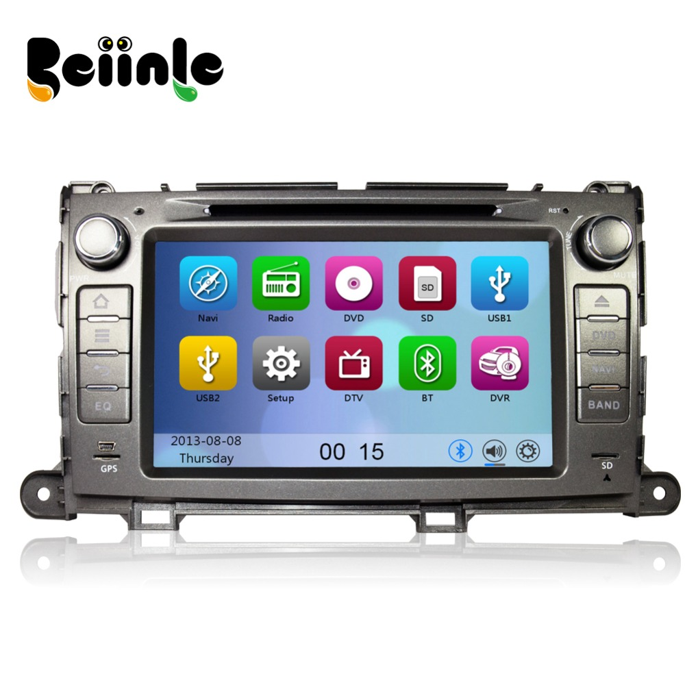 Beiinle 2 Din 8  Car  Head Unit Radio Stereo DVD GPS Navigation Player for Toyota Sienna<br>
