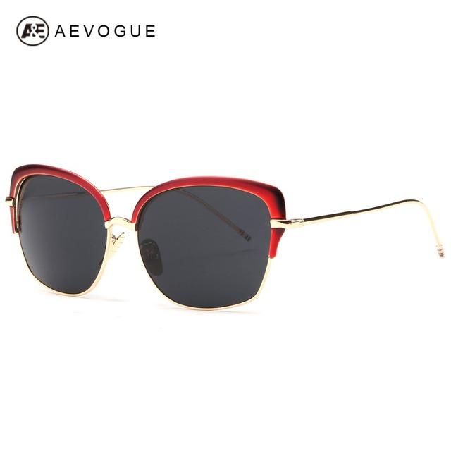 Aevogue мода солнцезащитных очков женщины роскошные дамы бренд дизайнер старинные зеркало солнцезащитные очки óculos De Sol Feminino UV400 AE0292