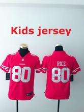 Kids youth Best Quality San Francisco 49ers 16 Joe Montana 42 Ronnie Lott 80 Jerry Rice 82 Torrey Smith 81 Anquan Boldin(China (Mainland))