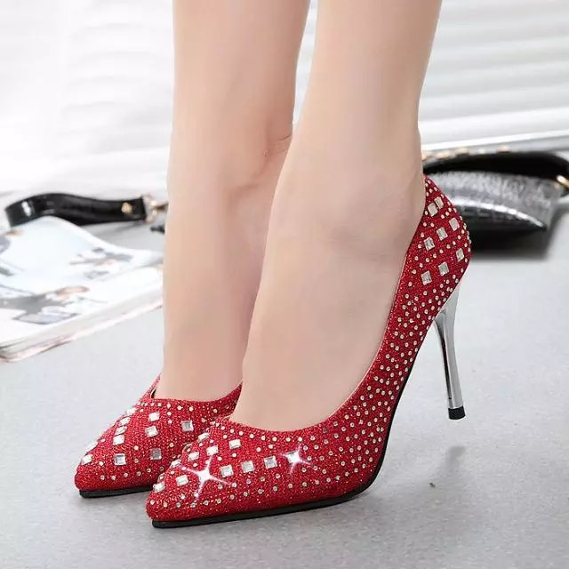 Online Buy Wholesale red bottom crystal heels from China red ...