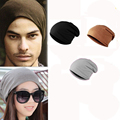 1pcs Spring Women Men Unisex Knitted Winter Cap Casual Beanies Solid Color Hip hop Snap Slouch