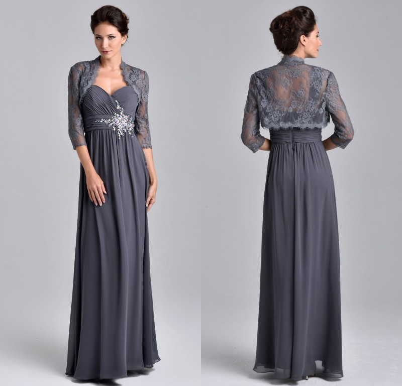 Plus Size Gray Formal Dresses 40