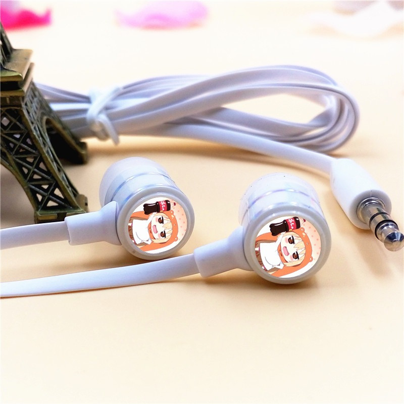 Anime Himouto Umaru-chan Doma In-ear Earphones 3.5mm Stereo Earbuds Microphone Phone Music Headset for Iphone Samsung Xiaomi MP3