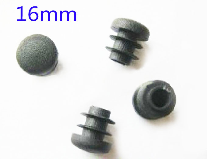 16 mm Blanking tube insert ending,Round tube plug Cane feet pad arc or Flat surface leg pile pole cap cover 12 14mm available(China (Mainland))