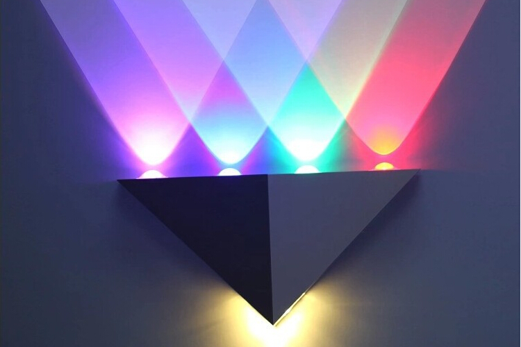 LED Wall Lights 5W Triangle pure aluminum wall lamp AC85~265V LED Spot Light Background atmosphere light<br><br>Aliexpress