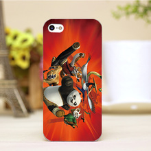 pz0004-21-3 Cute For Kung Fu Panda Cartoon Design cellphone transparent cover cases for iphone 4 5 5c 5s 6 6plus Hard Shell