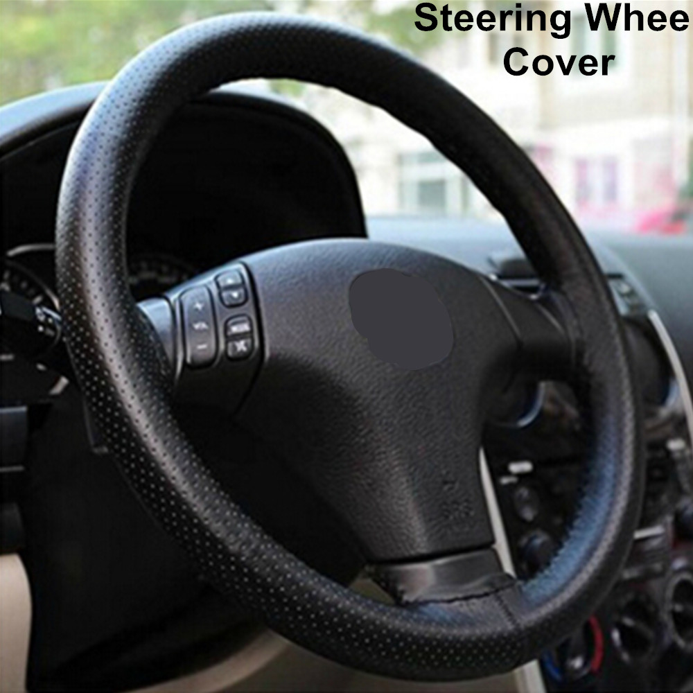 Hot Universal twine ruly braid helm cover on the steering wheel Sew Microfiber leather car steering wheel cover Steering Wheels(China (Mainland))