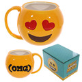 Free Shipping 1Piece Emoji Mugs Emotive Coffee Mug Office Cute Drinking Cup Simle Sleeping Winking Sunglasses