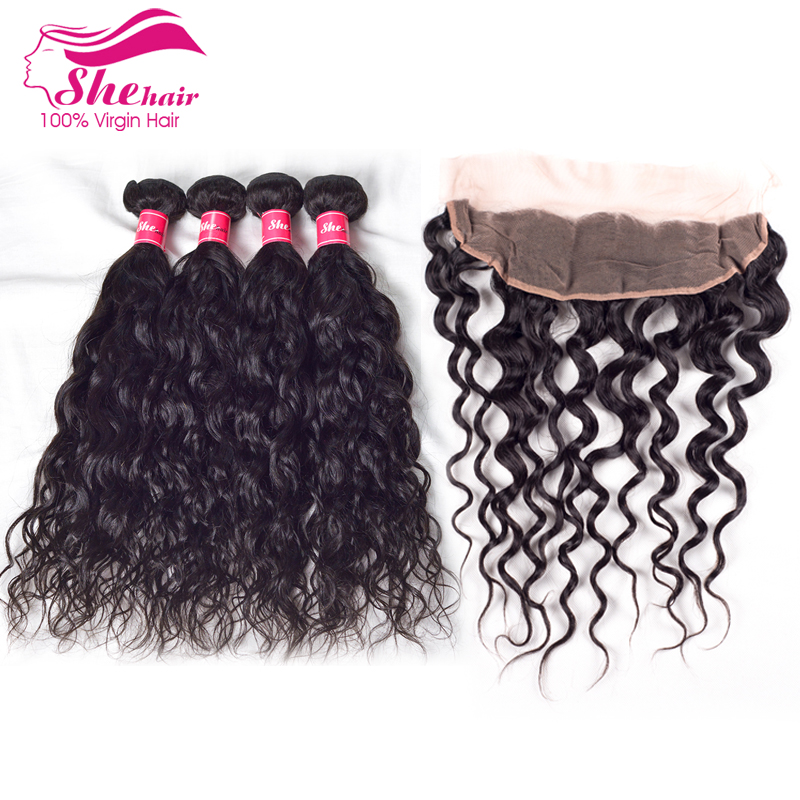 Malaysian Natural Wave With Lace Frontal Closure 13*4 Ear To Ear Lace Frontal Closure With Bundles Cheap Malaysian virgin Hair<br><br>Aliexpress