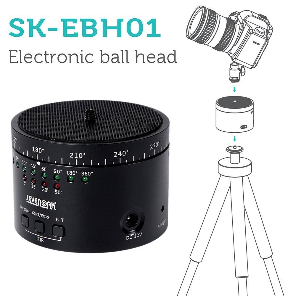 Sevenoak EBH01 Ballhead Tripod 360 Swivel Time Stabilizer For Nikon Camera for Gopro hero for Sony for Canon TV015+<br><br>Aliexpress