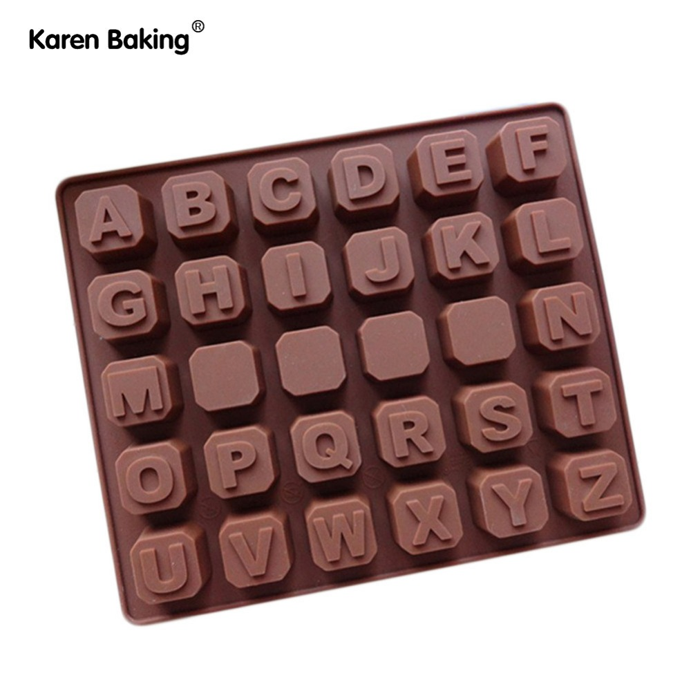 26PCS English Letter and 4 PIECES Blank New Arrival Silicone Cake Chocolate Mold Jelly Mold Cake Moulds Bakeware B179(China (Mainland))