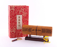 Tao Te Ching bamboo book In English and Chinese business gifts / bamboo painting(China (Mainland))