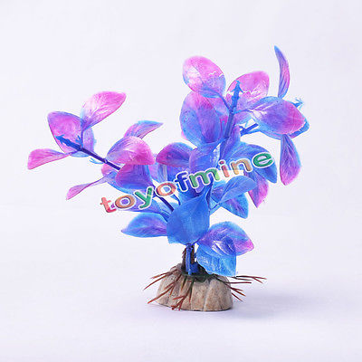 Cute Purple Aquarium Decor Water Weeds Ornament Plant Fish Tank Decor New(China (Mainland))