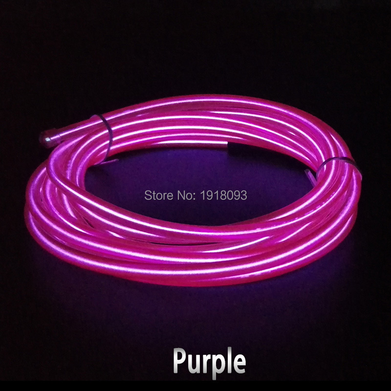 High-grade 10 Colors available 10Meters 5.0mm Flexible EL wire LED Strip Neon Lights Glowing products DC-3V Drive Light-up(China (Mainland))
