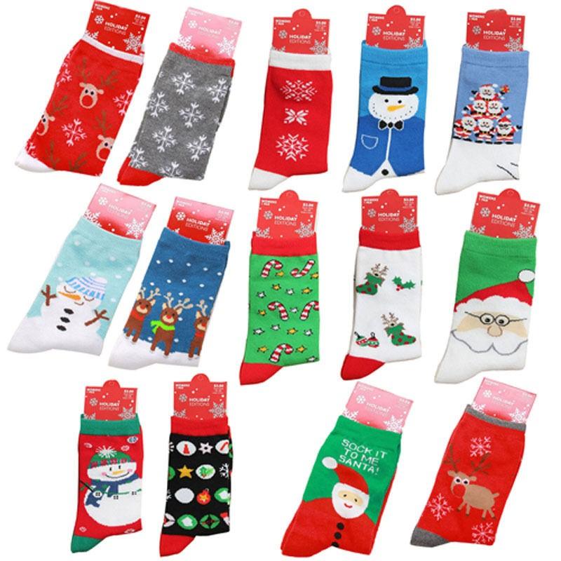 Цвет отправить случайно! Симпатичный медведь олени санта-клауса рисунок дети хлопка зимние носки рождество детские носки для детей 1 - 3 лет