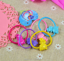 20 Pcs Hairband Kids Elastic Hair Bands Tie Elastic Children Rubber Carton Round Ball High Quality