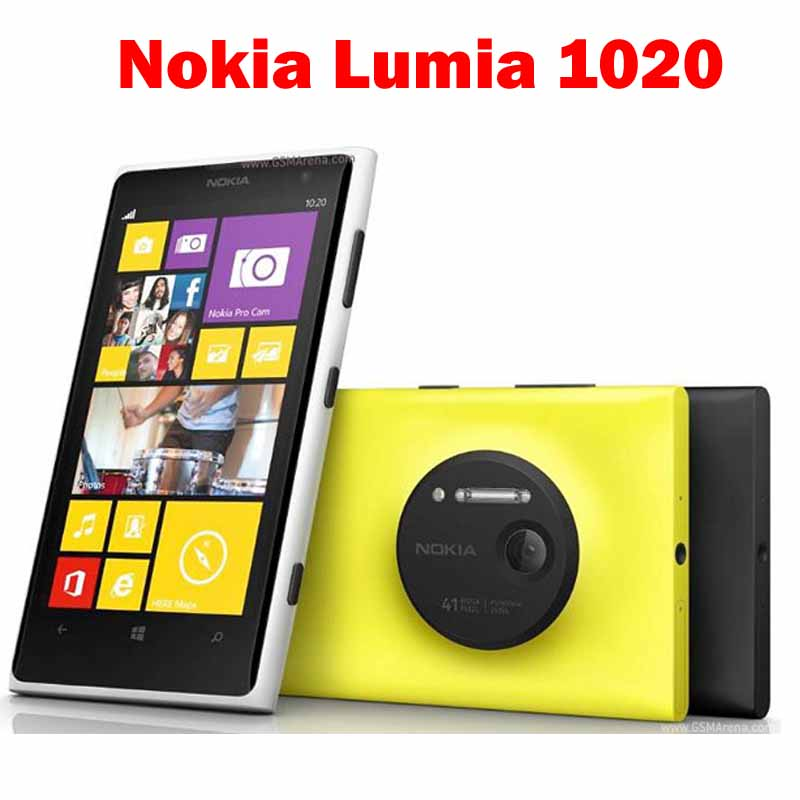"Unlocked Lumia 1020 Original Nokia Lumia 1020 4.5""capacitive touchscreen GPS GSM Front camera Unlocked cell phone(China (Mainland))"