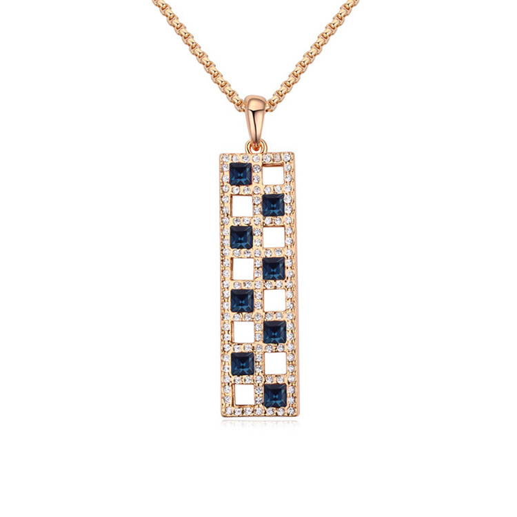 2015 White/Gold/Blue/Colorful Strip Pendant Crystal Necklaces for Women Free Shipping(China (Mainland))
