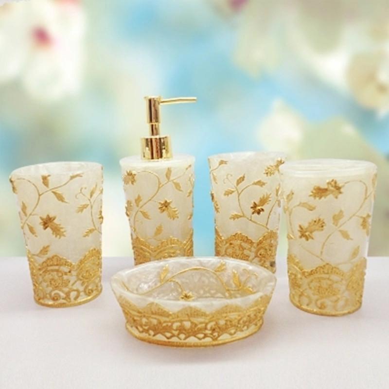 Resin applique rattan Bath Sets Series Five piece Set