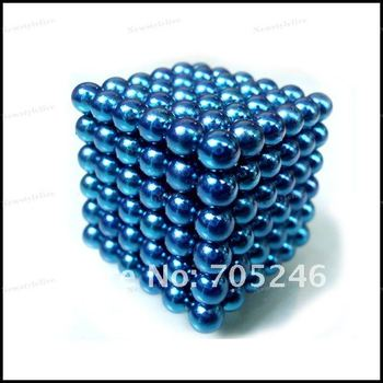 Hot sale Free Shipping 1set 5MM N35 216Pcs/Set,Buckyballs/Neocube /Magnetic Balls/Educational Toys with Tin Box Eight colors