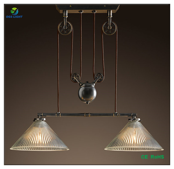 Antique Style Edison Industrial Pulley Pendant Lights