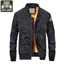 Buy AFS JEEP Brand Bomber Jacket Men 2017 Jacket Men Fashion Casual Baseball Clothes Slim Fit Mens Bomber Jackets Coat Male S-3XL for $31.98 in AliExpress store