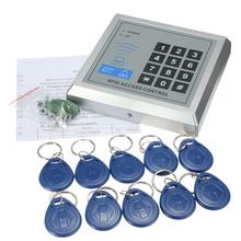 Hohe qualität Sicherheit RFID Proximity Eintrag Türschloss Access Control System 500 Benutzer + 10 RFID Keyfobs mit Englisch benutzer manuelle(China (Mainland))